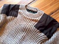 【Woolyback】 ウーリーバック 9024 YORK-CREW  CREW NECK WITH  PATCHES パッチ付 クルーネック コマンドセーター