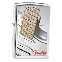 Fender Guitar Zippo (フェンダー ギター ジッポー) Fender Guitar High Polish Chrome (28845)