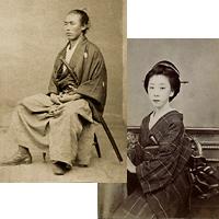 幕末フォトグラフ「龍馬とお龍」オリジナルポストカード 2枚セット