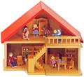 家具付き人形の家(食器、人形別売り)