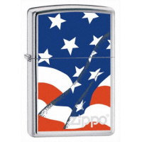 Pride Collection Zippo Wavy Flag (21164) USA SE