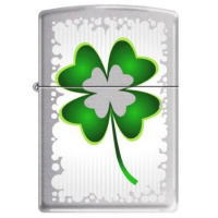 4 Leaf Clover-Irish Luck (四葉のクローバー) Zippo (3501)