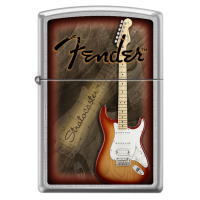 Fender Guitar Zippo (フェンダー ギター ジッポー) Stratocaster Brushed Chrome (0172)