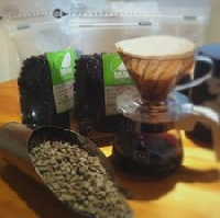 生豆焙煎珈琲 緑の豆 画像