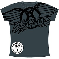 Aerosmith T-Shirts - Winged Logo Juniors-Womens 9AEAS16419(即納)